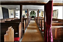 SU5846 : Dummer, All Saints Church: The nave from underneath the Charles II gallery by Michael Garlick