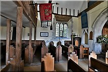 SU5846 : Dummer, All Saints Church: Looking northwards across the nave by Michael Garlick