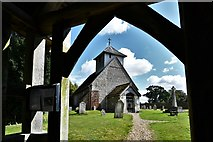 SU5846 : Dummer, All Saints Church: Seen through the lych gate by Michael Garlick