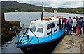 V9354 : Ilnacullin/Garinish Island, Co. Cork - Blue Pool Ferry 1 at the Quay by P L Chadwick