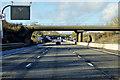 SP6759 : Northbound M1 at Junction 16 (Kislingbury Interchange) by David Dixon