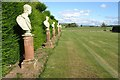SO8047 : Busts at Madresfield Court by Philip Halling
