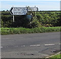 ST0169 : Direction and distances signs, Cowbridge Road, Eglwys Brewis, Vale of Glamorgan by Jaggery
