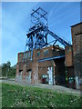 SE3606 : Headgear, Barnsley Main colliery, from the south-east by Christine Johnstone