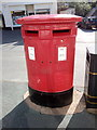 SH6874 : A type C EIIR double pillar box on Village Road, Llanfairfechan by Meirion