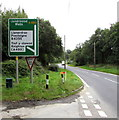 SO1073 : Directions sign alongside the A483, Llanbister by Jaggery