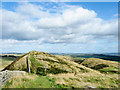 NY7467 : Knoll with trig point along Hadrian's Wall Path by Trevor Littlewood
