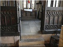 SX9192 : Side chapel screen, St Mary Steps church, Exeter by David Smith
