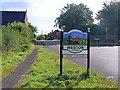 SK7767 : Weston village sign by Graham Hogg