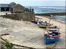 SW3526 : Fishing boats at Sennen Cove by John Allan