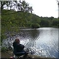 SJ9690 : Fishing at Etherow Country Park by Gerald England