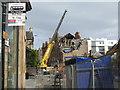 NT2472 : Fire damaged tenement, Fountainbridge by M J Richardson