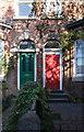 SJ8193 : Coloured doors by Bob Harvey