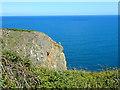 SM9737 : Needle Rock headland by Eirian Evans