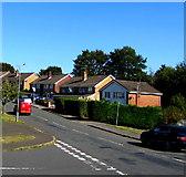 ST3090 : Cloudless blue sky, Rowan Way, Malpas, Newport by Jaggery