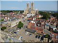 SK9771 : View of Lincoln Cathedral from the Observatory Tower by David Hillas
