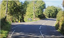 H9618 : The Drumalt Road junction on the B30 north of Silverbridge  by Eric Jones