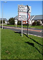 ST0167 : Direction signs alongside the B4265 near St Athan by Jaggery