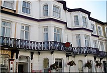 TG5307 : Terrace in Prince's Road - wrought iron balconies by Evelyn Simak