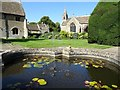 ST8663 : Pond in the gardens of Great Chalfield Manor by Philip Halling