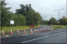NS3977 : Road closed by Lairich Rig
