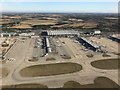 TL5524 : Aerial view of Stansted Airport by Richard Humphrey