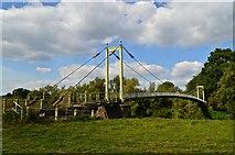 SO5628 : The Sellack Boat suspension bridge by Philip Pankhurst