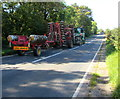 ST0267 : Long vehicle on the B4265 towards St Athan by Jaggery