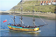 NZ8911 : 'Bark Endeavour' in Whitby Lower Harbour by Stephen McKay