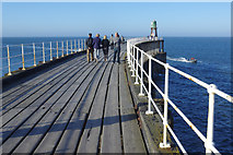 NZ8911 : Whitby West Pier Extension by Stephen McKay