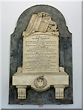 NZ2564 : Wall monument in the portico of All Saints' Church by Mike Quinn