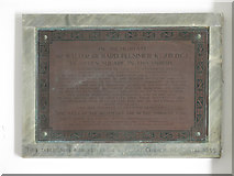 NZ2564 : Wall monument in the portico of All Saints Church by Mike Quinn