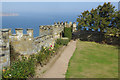 NZ9801 : Raven Hall Hotel - battlements and gardens by Stephen McKay