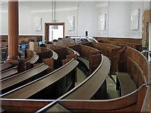 NZ2564 : All Saints Church, Pilgrim Street - curved pews by Mike Quinn