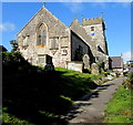 SS8975 : East side of Grade II (star) Listed Church of St Bridget, St Brides Major by Jaggery
