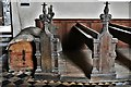 TM1582 : Shimpling, St. George's Church: Chest and pews by Michael Garlick