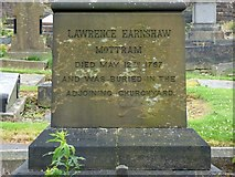 SJ9995 : Lawrence Earnshaw memorial: side 1 by Gerald England