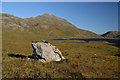 NC1619 : Boulder in the floor of Glen Canisp, Sutherland by Andrew Tryon