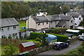 SD3585 : Houses in Finsthwaite Lane, from the railway by David Martin