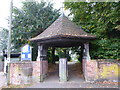 TL8530 : St Andrew, Colne Engaine: lych gate by Basher Eyre