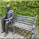 SJ9995 : L S Lowry on a bench by Gerald England