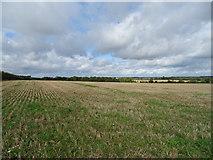 SP6134 : Stubble field near Tibbets Farm by JThomas