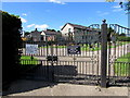 ST0167 : Burial ground entrance gates, Rock Road, St Athan by Jaggery