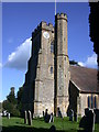 TQ5446 : St Mary's Church in Leigh, Kent by John P Reeves