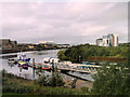 NS5565 : Ferry Landing Stage at Glasgow Riverside by David Dixon