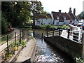 TL1714 : River Lea, Wheathampstead by Peter S