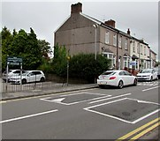 ST3090 : Speed bumps near Malpas Community Centre and Library, Newport by Jaggery