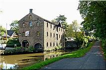 SJ9689 : Lockside Mill near Marple, Stockport by Roger  Kidd