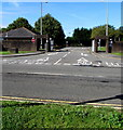 ST0169 : Exit from MOD St Athan into Cowbridge Road by Jaggery