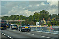 SJ9219 : Hyde Lea : M6 Motorway by Lewis Clarke